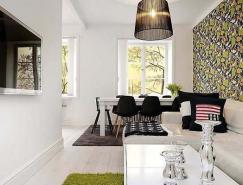 舒服的配色方案:斯德哥爾摩優雅的公寓