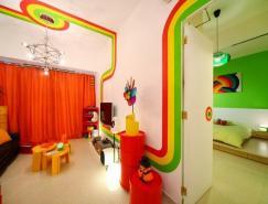 彩虹之家:香港77平米公寓設計