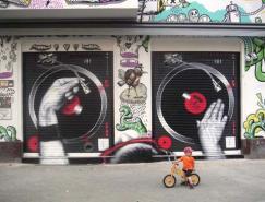 50个神奇创意的街头艺术作品