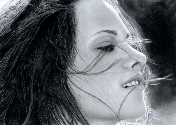 逼真的铅笔肖像画作品(2)