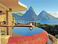 无处不在的无限游泳池:圣卢西亚Jade山度假村