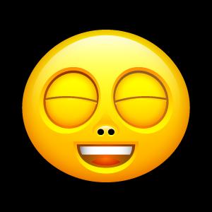 橙色面部表情png图标