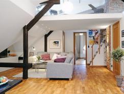 哥德堡清新简约的阁楼室内设计