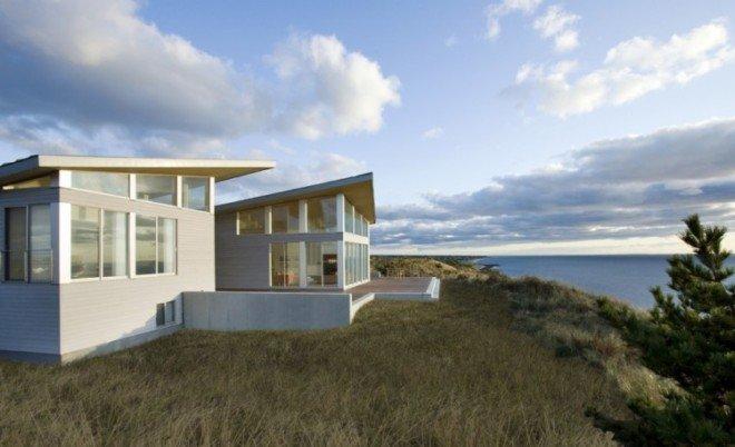 科德角海湾的现代海景别墅