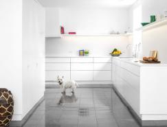 斯堪的納維亞風格:時尚白色廚房設計