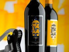 漂亮的葡萄酒瓶贴标签设计