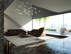 國外現代客廳效果圖設計