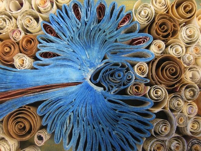 英国艺术家BroniaSawyer:纸鸟