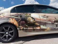 创意汽车彩绘艺术作品