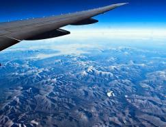 摄影欣赏:透过飞机眩窗的美丽风景