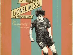 足球的吸引力:ZoranLuci怀旧风格足球海报