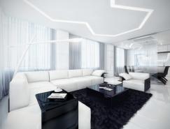 公寓設計:未來派的黑與白
