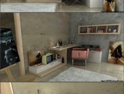現代時尚的青少年臥室設計