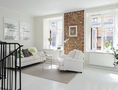 优雅的白色:94平米温馨复式公寓