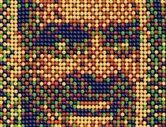 彩虹糖平面广告