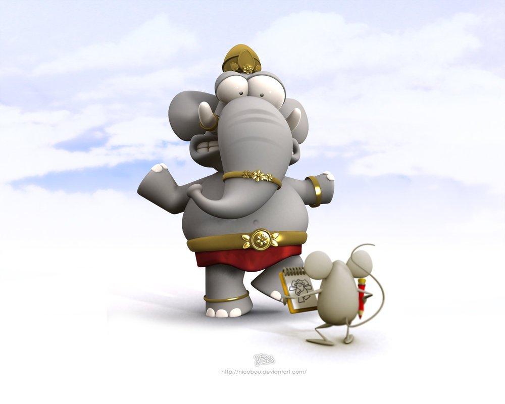 可爱的3d卡通动物设计(2)