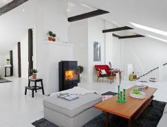 127平米斯堪的纳维亚风格纯白公寓设计