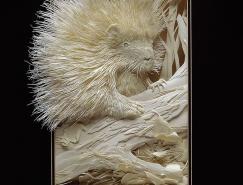 加拿大艺术家CalvinNicholls纸雕作品