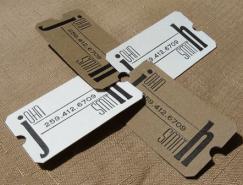 20款环保的再生纸名片设计