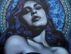 艺术家ElMac和Retna街头壁画