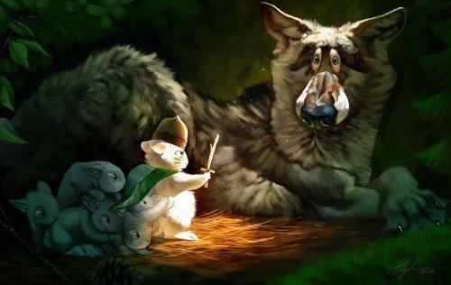 可爱的动物插画欣赏 - 设计之家