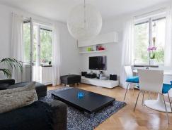 美丽的蓝色点缀:充满女性魅力的小户型公寓设计
