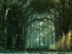 50张精美的森林和热带雨林CG风景欣赏