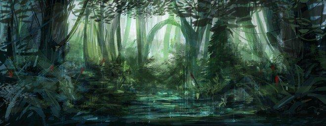 美国现实主义_50张精美的森林和热带雨林CG风景欣赏(4) - 设计之家