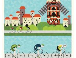 2011环法自行车赛插画海报澳门金沙真人欣赏