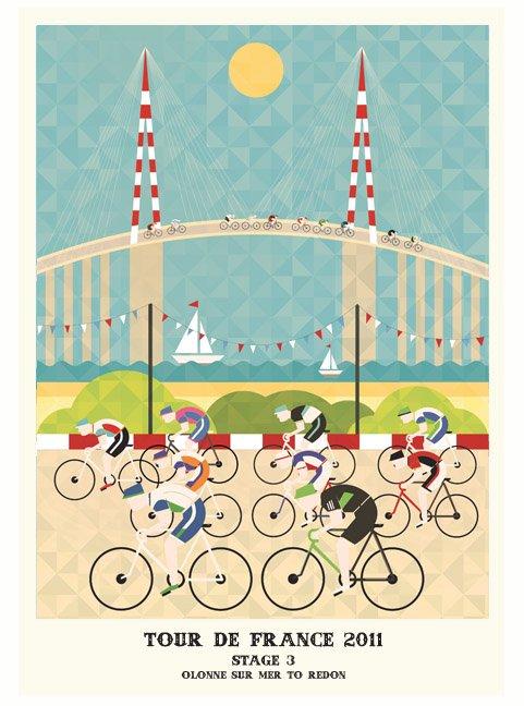 2011环法自行车赛插画海报设计欣赏