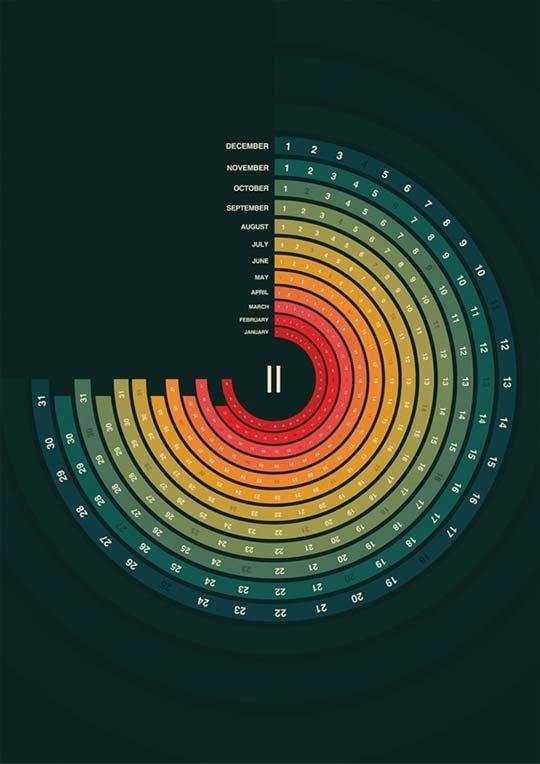 国外创意日历设计作品(3)