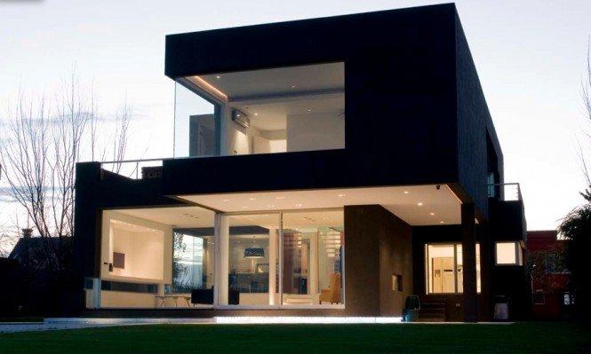 阿根廷黑色现代别墅设计