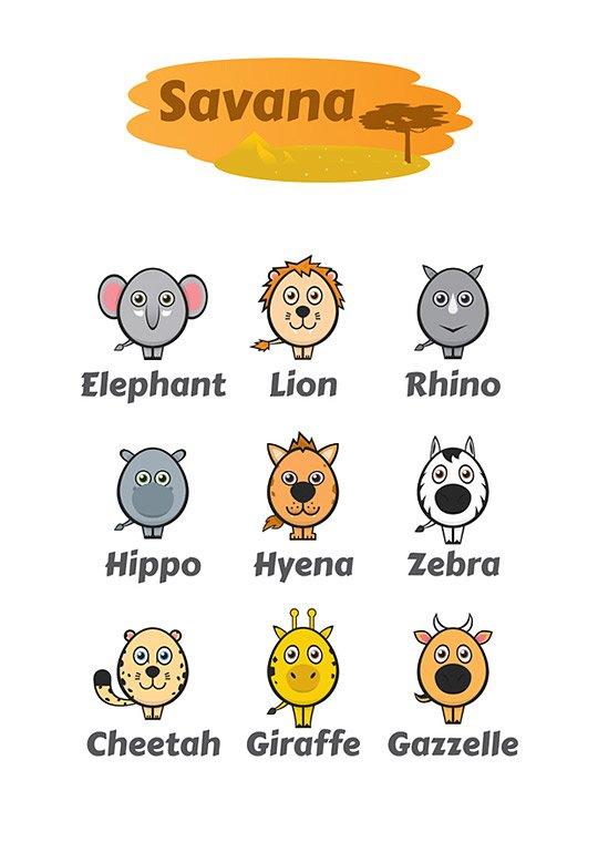 可爱的动物卡通插画作品