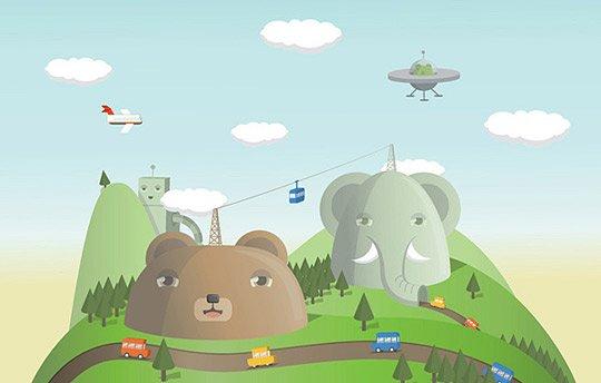 可爱的动物卡通插画作品(3)