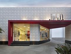 强烈的红白色彩对比:巴西Hi-lo服装店