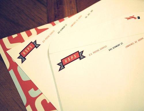 45款国外公司信纸和信封设计