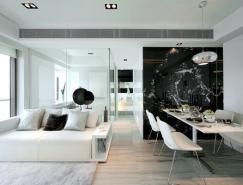 <b>黑与白的魅力:35个精致高雅的公寓设计</b>