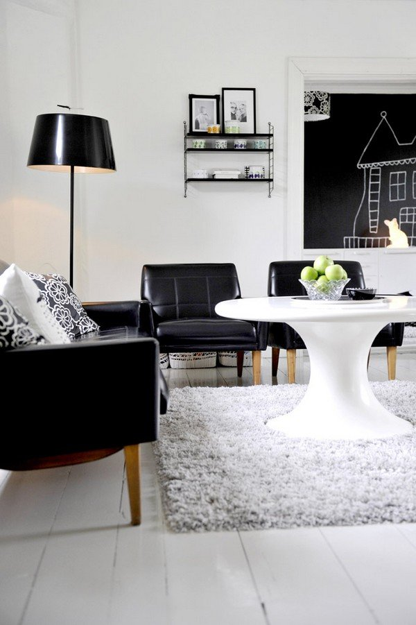 黑与白的魅力:35个精致高雅的公寓设计