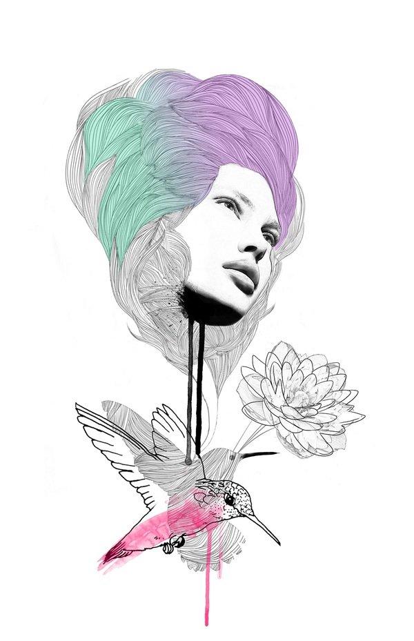 JasonBeasley时尚线描风格插画