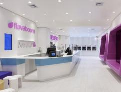 前卫的色彩:Flavaboom酸奶冰淇凌店室内设计
