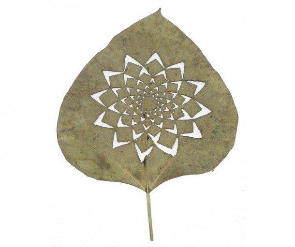 LorenzoDuran精美的树叶雕刻艺术