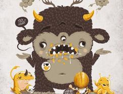 不同风格的怪兽插画欣赏