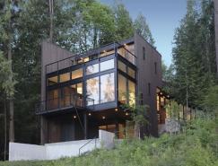 西雅图美丽的山林湖景别墅