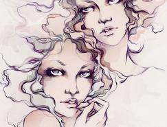 SoleilIgnacio女孩插画欣赏