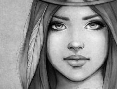 Gabrielle肖像插画欣赏