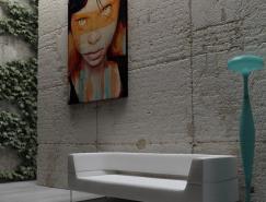 灰色低调的极简风格室内设计