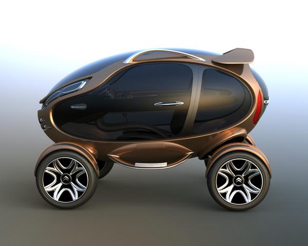 雪铁龙eggo概念电动车 设计之家
