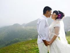 Photoshop给山景婚片增加漂亮的霞光色