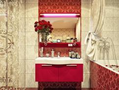 復古與現代結合的浴室(衛生間)設計