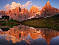 JackBrauer作品:完美的山峰湖光倒影